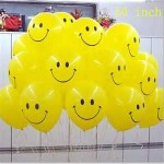 10 inch yellow smile balloons